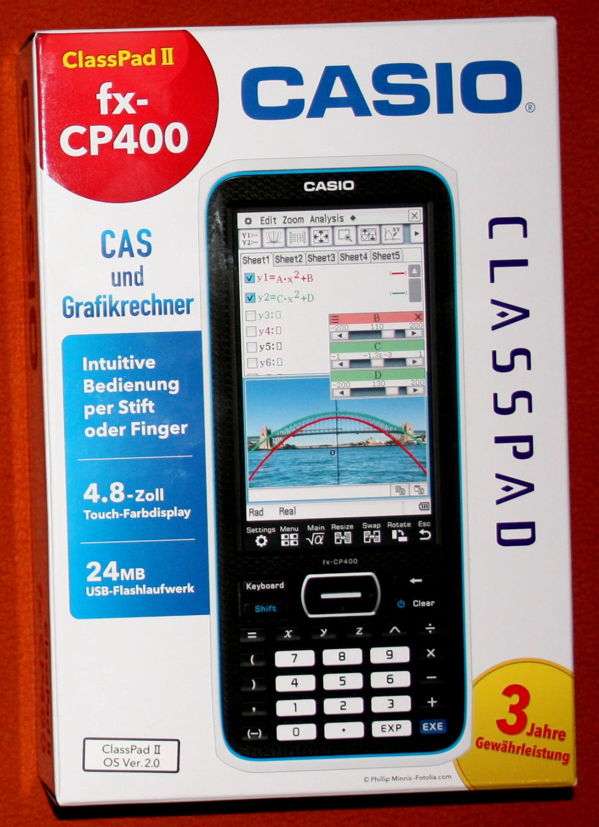 casio classpad ii fx cp 400 grafikf higer taschenrechner. Black Bedroom Furniture Sets. Home Design Ideas
